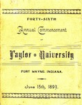 Fourteenth Annual Commencement of Taylor University