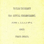 Fifty-Third Annual Commencement of Taylor University