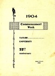 1904 Commencement Week