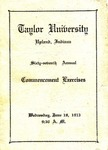 Taylor University Sixty-Seventh Annual Commencement Exercises