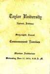 Taylor University Commencement Exercises