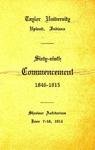 Taylor University Sixty-Ninth Commencement