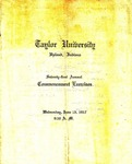 Taylor University Seventy-First Annual Commencement Exercises