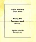Taylor University Seventy-Fifth Commencement