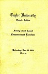 Taylor University Seventy-Seventh Annual Commencement Exercises