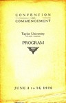 Convention and Commencement Program