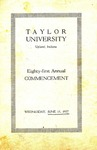 Taylor University Eighty-First Annual Commencement