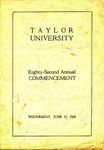 Taylor University Eighty-Second Annual Commencement