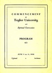 Commencement at Taylor University with Spiritual Convocation