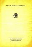 Baccalaureate Sunday 1933