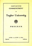 Taylor University Eighty-Seventh Annual Commencement
