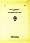 Taylor University Eighty-Ninth Commencement
