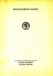 Baccalaureate Sunday 1936