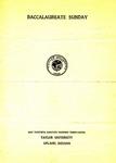 Baccalaureate Sunday 1937