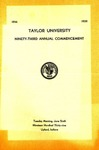 Taylor University Ninety-Three Annual Commencement