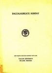 Baccalaureate Sunday 1941