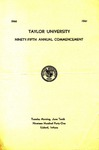 Taylor University Ninety-Fifth Annual Commencement