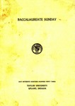 Baccalaureate Sunday 1943