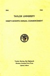 Taylor University Ninety-Seventh Annual Commencement