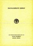 Baccalaureate Sunday 1945