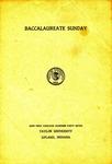 Baccalaureate Sunday 1947