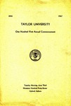Taylor University One Hundred First Annual Commencement