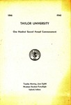 Taylor University One Hundred Second Annual Commencement
