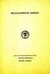 Baccalaureate Sunday 1949