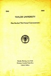 Taylor University One Hundred Third Annual Commencement