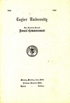 Taylor University One Hundred Fourth Annual Commencement