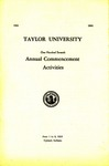 Taylor University One Hundred Seventh Annual Commencement Activities