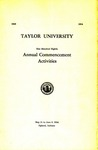 Taylor University One Hundred Eighth Annual Commencement