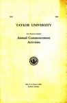 Taylor University One Hundred Eighth Annual Commencement Activities