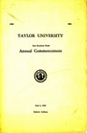 Taylor University One Hundred Ninth Annual Commencement
