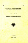 Taylor University One Hundred Eleventh Annual Commencement