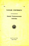 Taylor University One Hundred Eleventh Annual Commencement Activities