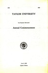 Taylor University One Hundred Thirteenth Annual Commencement