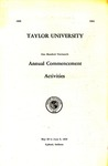 Taylor University One Hundred Thirteenth Annual Commencement Activities