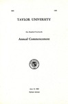 Taylor University One Hundred Fourteenth Annual Commencement