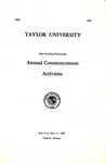 Taylor University One Hundred Fourteenth Annual Commencement Activities