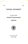 Taylor University One Hundred Fifteenth Annual Commencement Activities