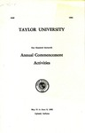 Taylor University One Hundred Sixteenth Annual Commencement Activities