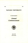 Taylor University One Hundred Eighteenth Annual Commencement