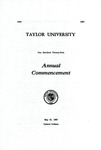 Taylor University One Hundred Twenty-First Annual Commencement
