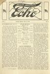 Taylor University Echo: March 25, 1919 by Taylor University