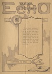 Taylor University Echo: October 11, 1921 by Taylor University