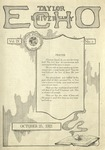 Taylor University Echo: October 25, 1921 by Taylor University