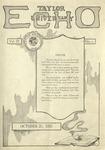 Taylor University Echo: October 25, 1921