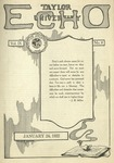 Taylor University Echo: January 24, 1922 by Taylor University
