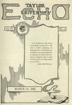 Taylor University Echo: March 14, 1922 by Taylor University